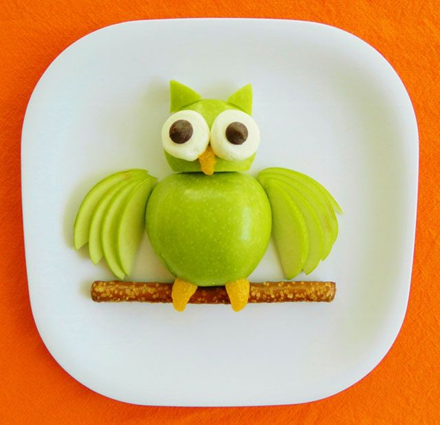 Façon fun pour faire manger des pommes aux enfants !