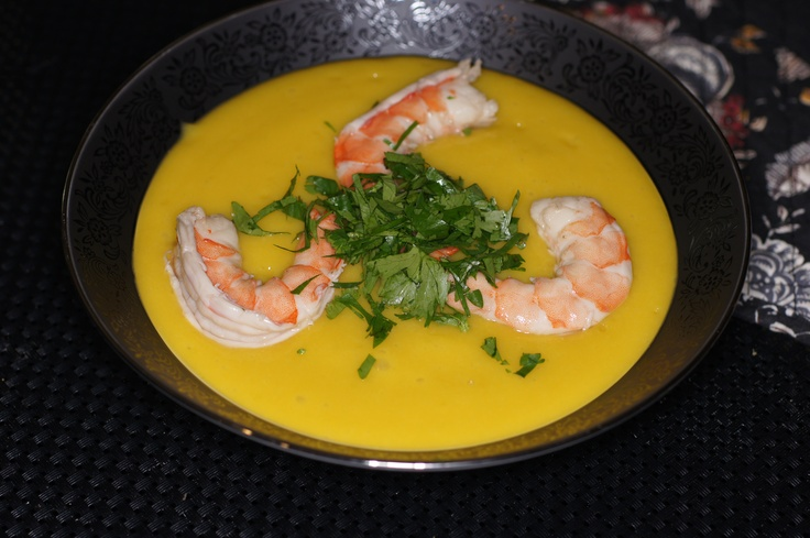 Mango Gazpacho with Pickled Shrimp | Absolutely Delicious - Soups | P ...