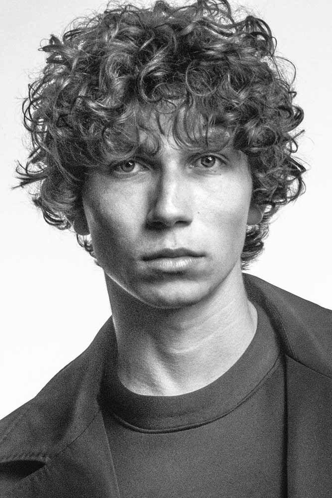 Medium Length Long Curly Hairstyles Men 9