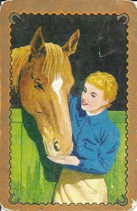 SWAP/PLAYING CARD - COLES UN - NAMED - # 1634 - HORSES