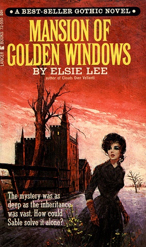 Mansion of Golden Windows. The model looks like Joan Collins.