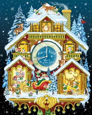 Christmas Cuckoo Clock Jigsaw Puzzle | Vermont Christmas | Vermont Christmas Co. VT Holiday Gift Shop