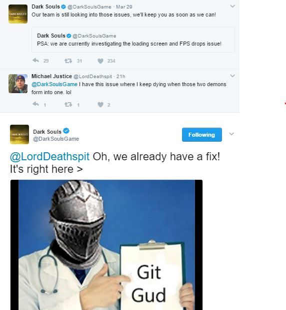 Dark souls community managers are Savage