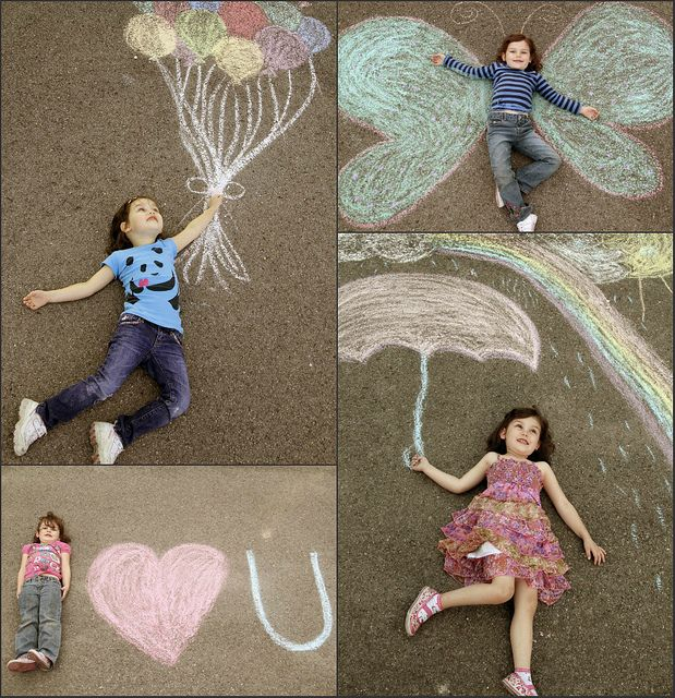 cute ideas with sidewalk chalk