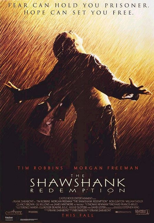 The Shawshank Redemption is a 1994 American drama film written and directed by Frank Darabont and starring Tim Robbins and Morgan Freeman. http://www.imdb.com/title/tt0111161/