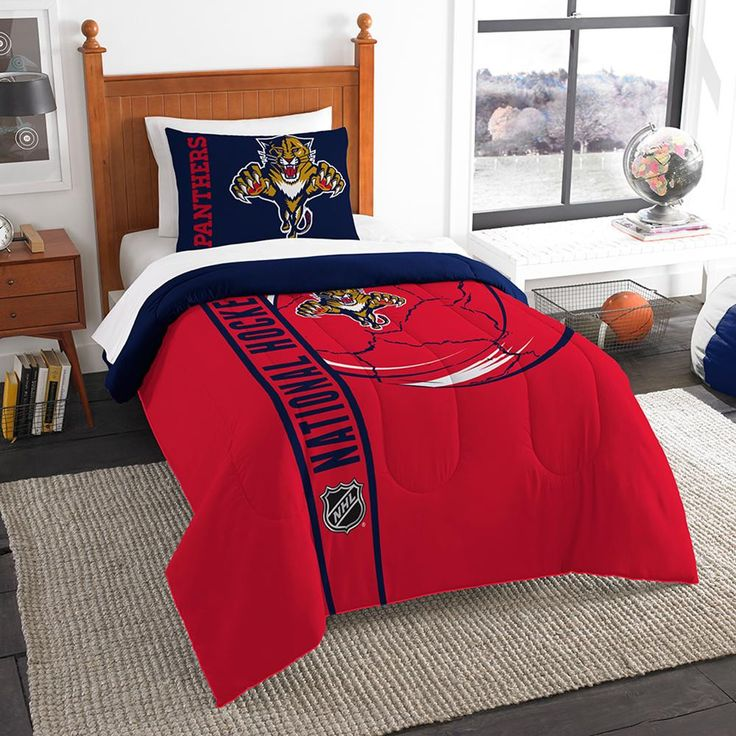 Florida Panthers NHL Printed Comforter Sham Set Twin 64 X