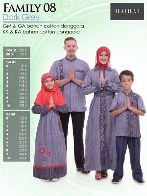 Baju Sarimbit HAI-HAI FAMILY 08 DARK GREY