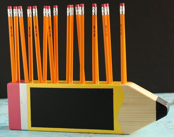 Teacher Name Plate/Pencil Holder 2 Rows
