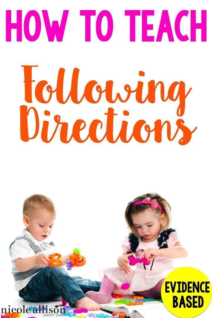 How do you teach following directions? Here's an evidence-based strategy!