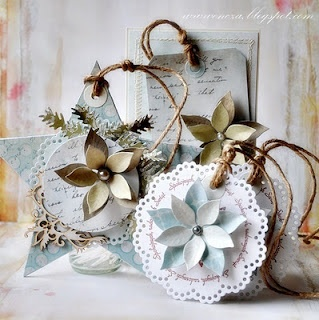 Beautiful! Christmas tags - Wendy Schultz ~ Christmas Crafts.