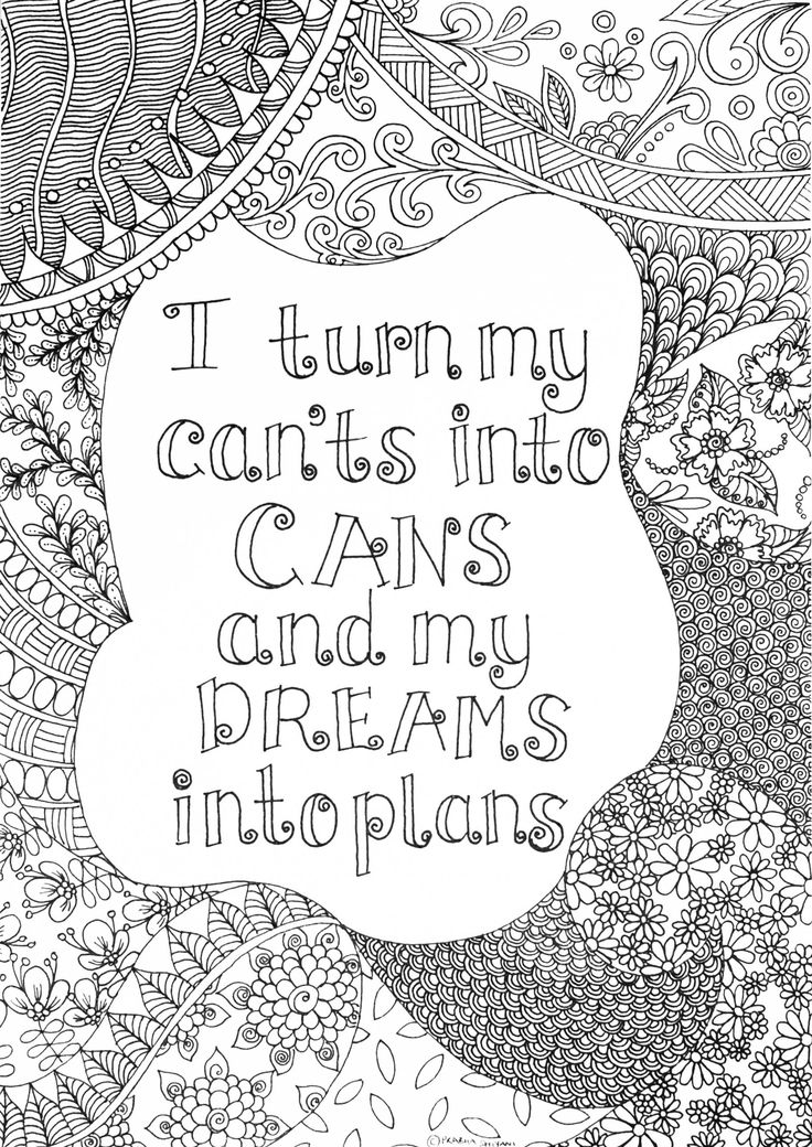 Mindful Affirmation Colouring Book | Coloring book pages ...