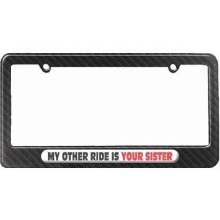 MY OTHER CAR IS A FIRE TRUCK Metal License Plate Frame