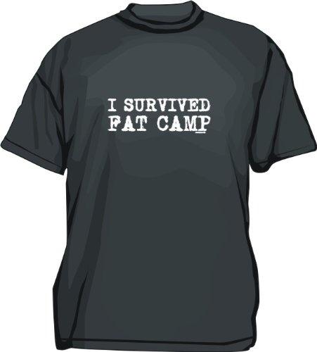 I SURVIVED FAT CAMP Mens Tee Shirt XL-Black