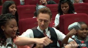 """Tom Hiddleston surprises NYC kids at Daily News/Disney screening of 'Thor: The Dark World'.  The nefarious Loki, scourge of Thor and the Avengers, is actually a good guy.  A really good guy.  Actor Tom Hiddleston flew in from London on Halloween just to trick and treat kids from two charities in a special screening of his latest film, """"Thor: The Dark World."""" Daily News…"""
