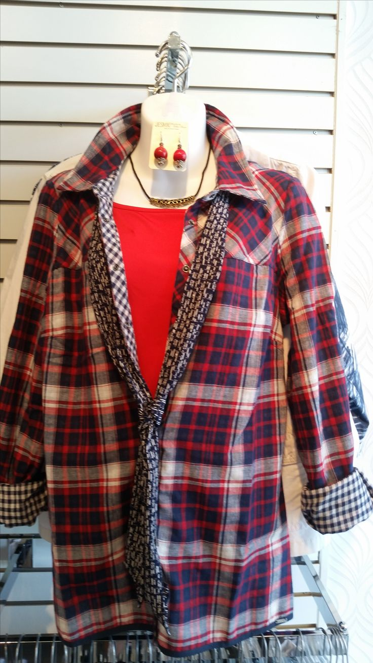 Check out this super cute reversible shirt from FDJ! It's super lightweight with snap front closures!