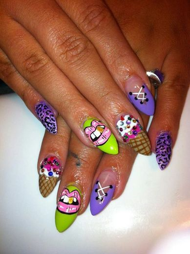 ghetto nail design ideas