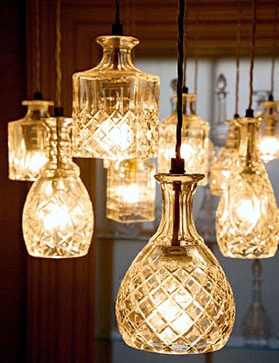 Emérita Desastre: Lámparas colgantes de cristal