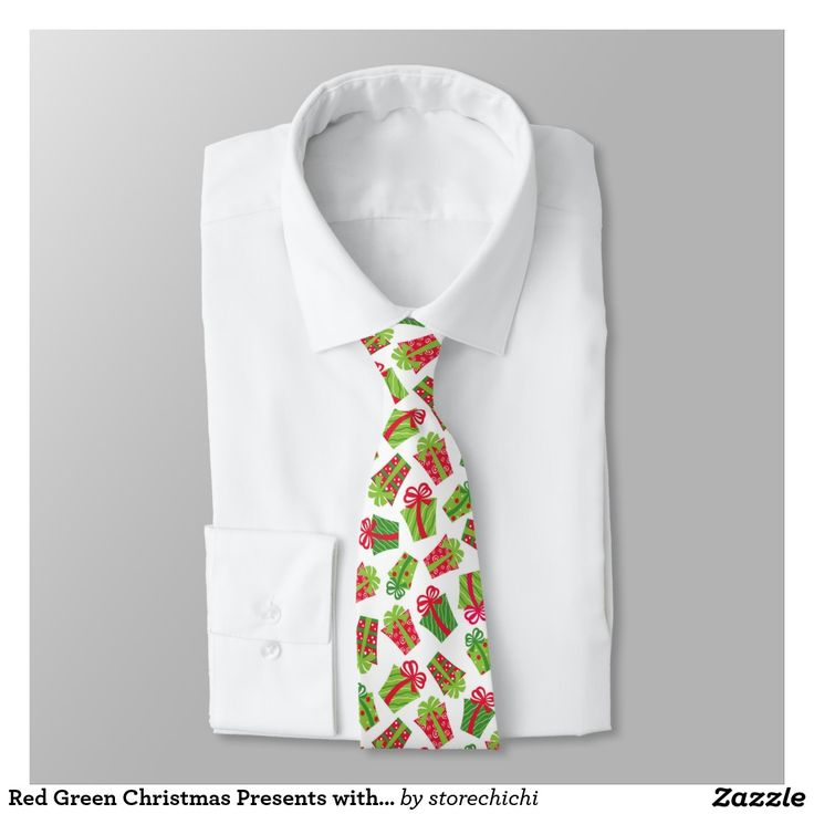 Red Green Christmas Presents with ribbons