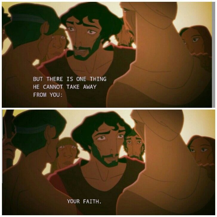 The Prince of Egypt. 1998. (take that, Mel Gibson - though our faith leads to complete freedom beyond the confines even of time)