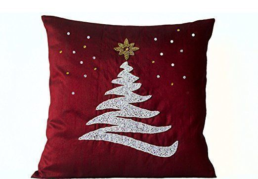 Christmas Accent Pillows - Red Christmas Pillows 2017 - Red Throw Pillows    Christmas 2017 is going to be more festive than ever therefore consider using cute Christmas accent pillows.  Christmas throw pillows come in many different fabrics, textures, styles and colors.   I decorate my home with green and red Christmas color scheme therefore I use a great deal of red Christmas accent pillows along with green holiday throw pillows.  Additionally, I use pops of silver and purple to really…