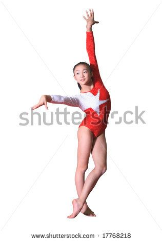 girl in gymnastics poses by Jiang Dao Hua, via ShutterStock