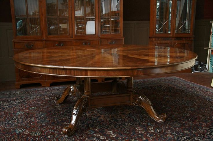 Large Double Pedestal Round Expandable Dining Table ~ http://lanewstalk.com/square-or-round-expandable-dining-table/