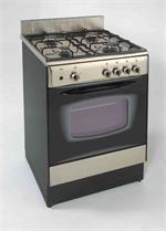 Avanti |24 inch High End Compact  gas range with glass oven door -DG241BS: SmallSpacesAppliances.com