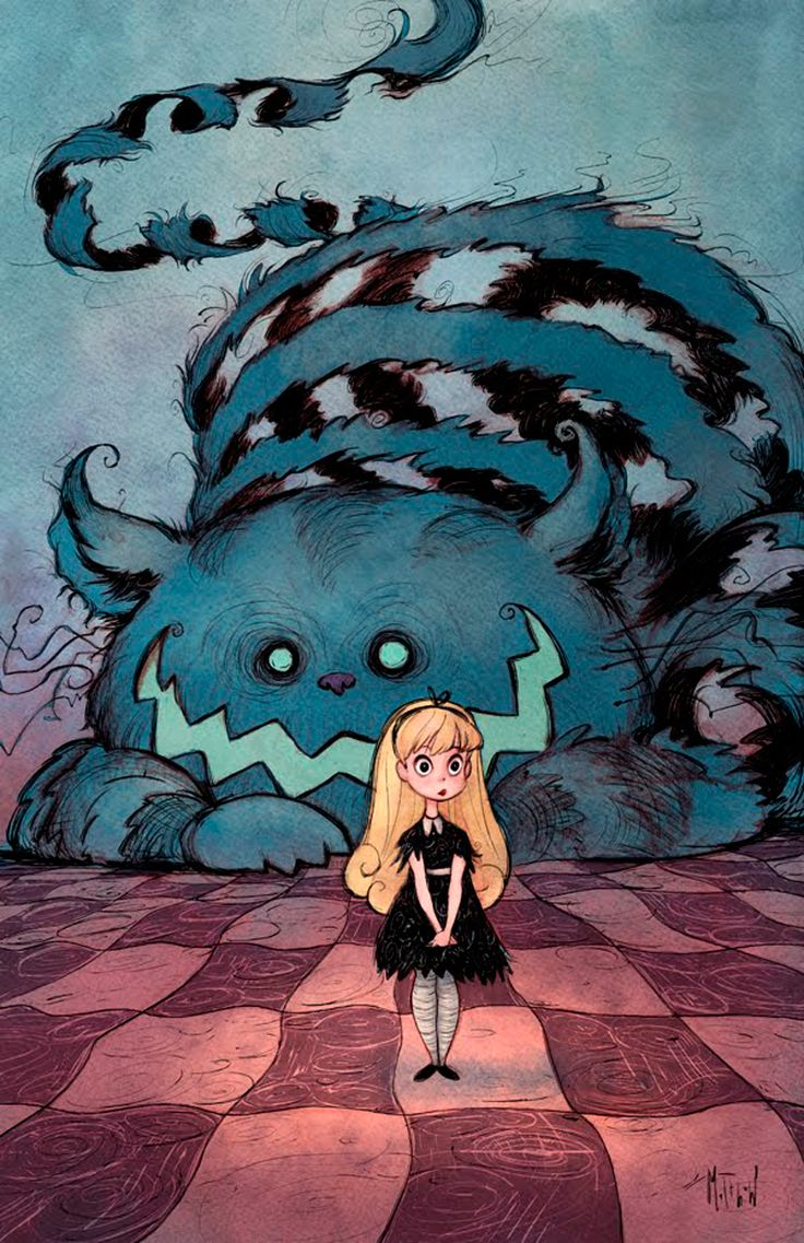 Alice by Matthew S. Armstrong  Didn't know the Cheshire Cat's grin was  Jack-o'lanternish.   Now I know.