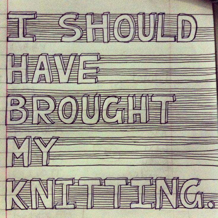 ALWAYS! #knitting