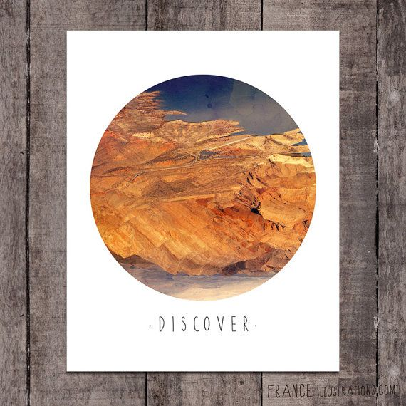 DISCOVER Wall Art /// Abstract Landscape by FRANCEillustration, $6.00