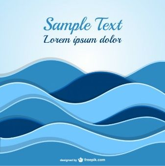 Abstract waves template