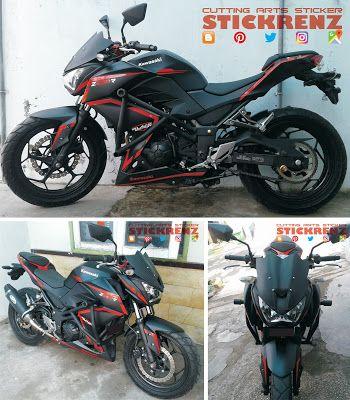 Kawasaki Z250R Black - Custom Wrap, Stripe & Text #kawasaki #kawasakininja #kawasakiz250 #z250 #ninja