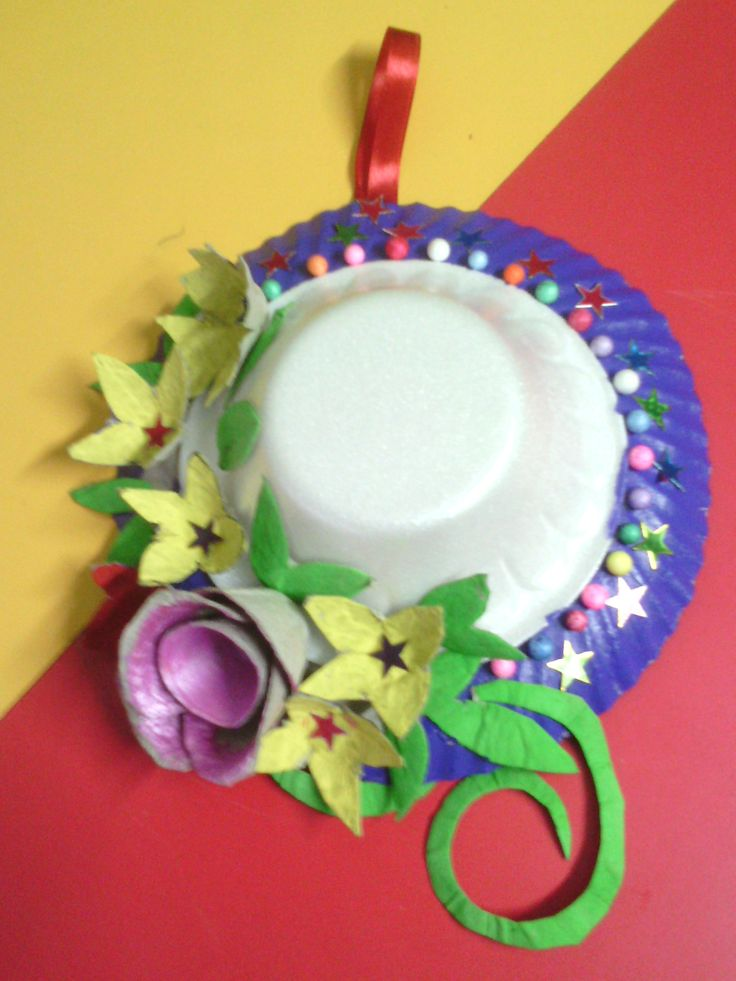 25 best ideas about paper plate hats on pinterest cheap for Egg tray craft ideas