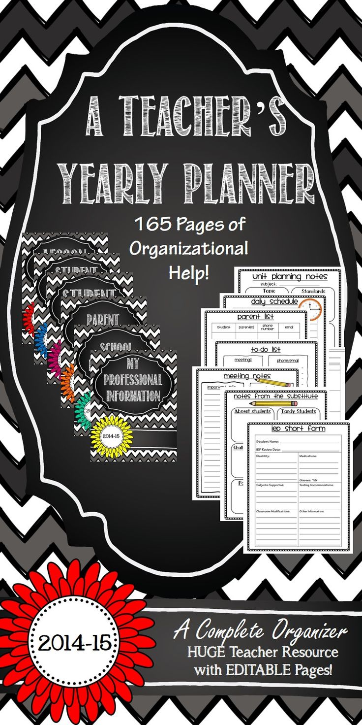 Teacher Binder - Chevron  and Chalkboard Theme - Loaded with Editable pages, cover, dividers, labels, forms, logs, gradebook, calendar, and tons more!  Can't wait to use this in August!
