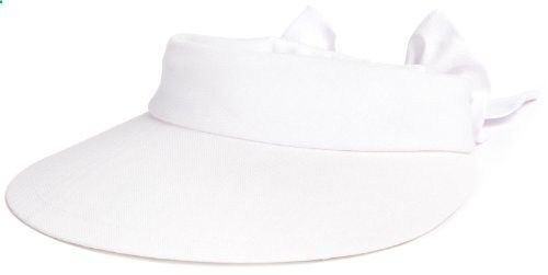 Scala Women's Visor Hat With Big Brim, White, One Size. Read more description on the website.