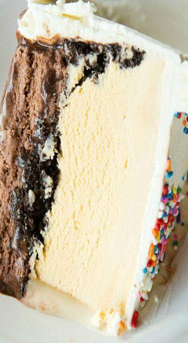 Pastel de helado casero Queen Milk – Pastel de helado – #Cake #Cream …   – Eis Ideen