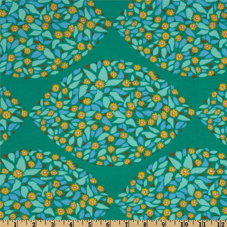 LAMINATED Cotton Fabric By The Yard   Minds Eye Tambourine Field Study  Yardage (aka Oil