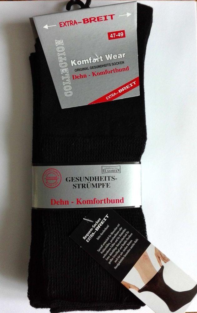 Herren Socken Dehn-Komfortbund Extra Breit !