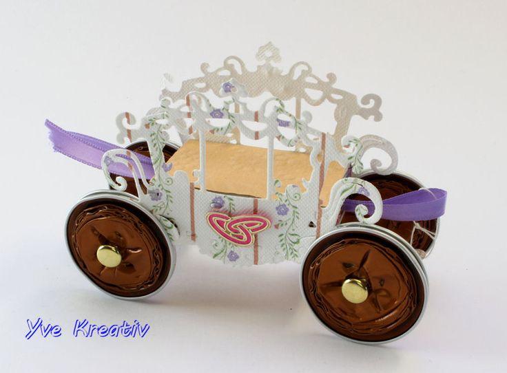 """""""Hochzeitskutsche""""+Streichholzschachtel+von+Yve-Kreativ+auf+DaWanda.com"""