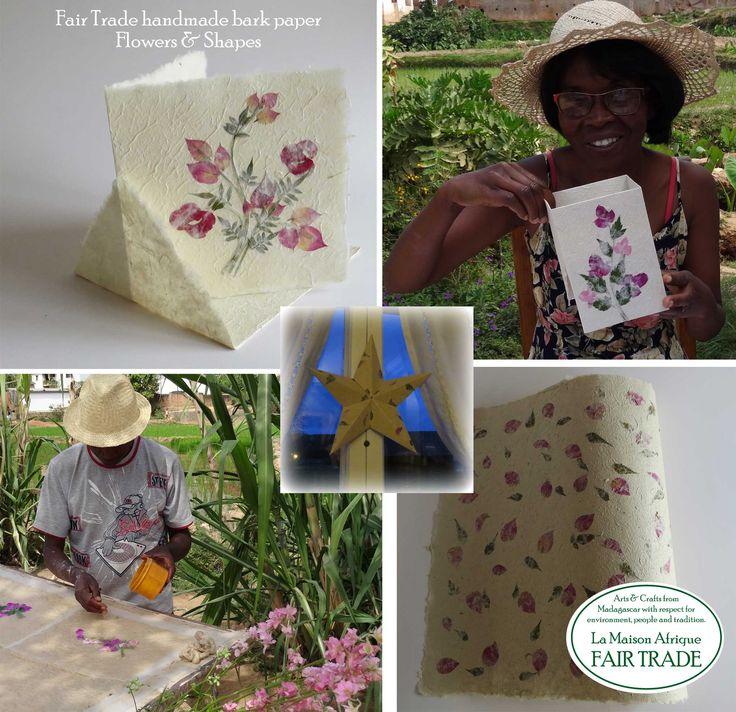 Fair Trade handmade bark paper. Flowers & Shapes - for a better World. #Formex #fairtrade #flowers #design
