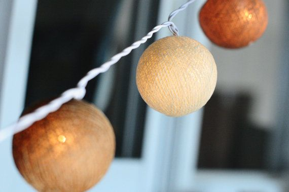 35 cotton ball light 13 feet mix coffee cotton ball by cottonlight, $18.50