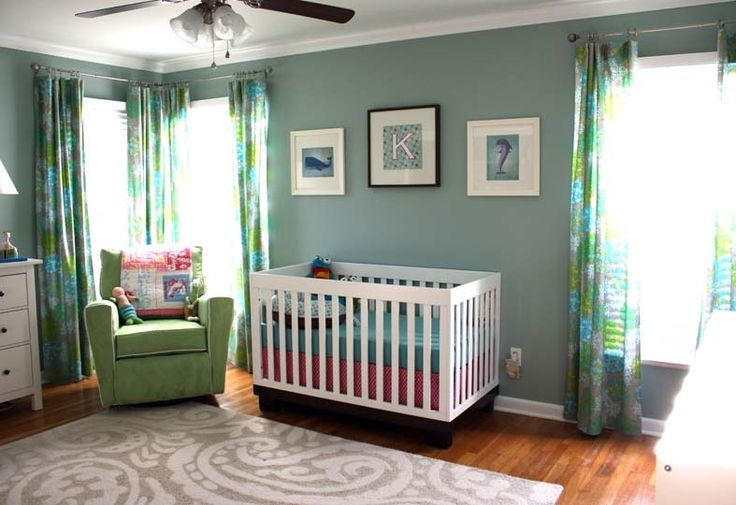 How Color Affects Your Baby - #nursery #baby: Wall Colors, Nurseries Colors, Blue Green, Paintings Colors, Colors Schemes, Baby Rooms, Rooms Colors, Girls Nurseries, Nurseries Ideas