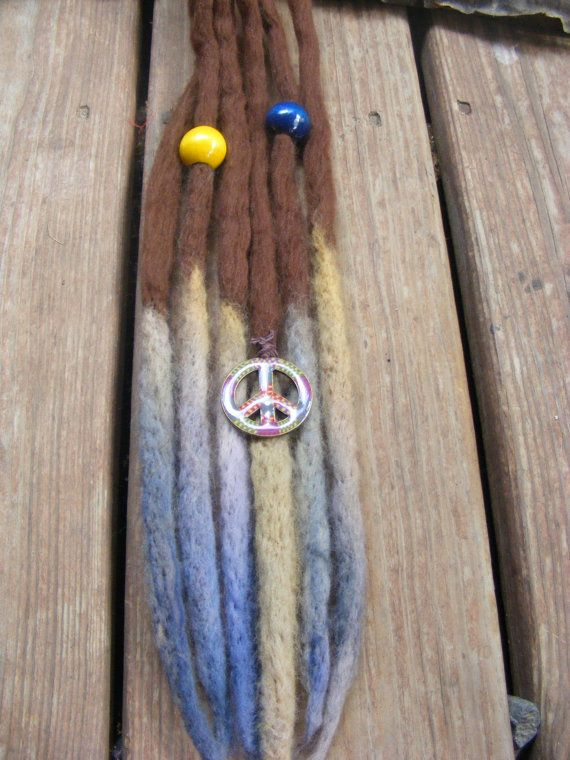 6 Se Tie Dye Ombre Wool Dreads Dreadlock Extensions Choc. Brown With Tie Dye Tips Hippie Boho Dreads Ready To Ship   – All Knotted Up (dreads)
