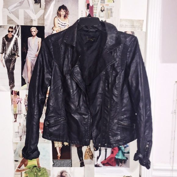 Black Leather Biker Jacket Black Leather Biker Jacket. This one is a classic can be worn with anything to just get that edge. In good condition Jackets & Coats