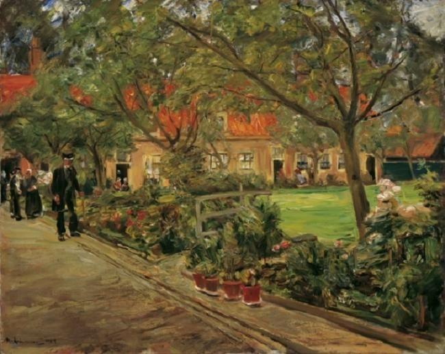 Spitalgarten im Edam  1904  by Max Liebermann