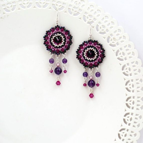 300 Best Beaded Earrings Images On Pinterest Earrings