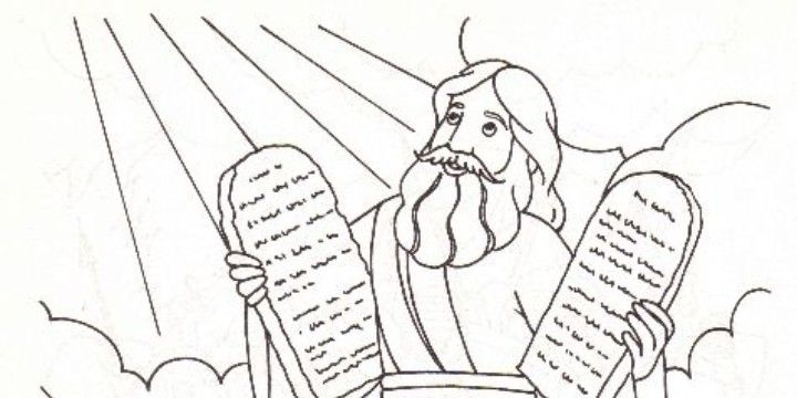 free coloring pages ten commandments - photo#8