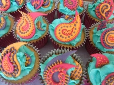 Indian style cupcakes By joaquinfan on CakeCentral.com Cake for uncle #cupcake #food