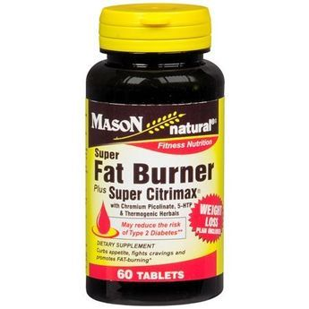 Mason Natural Super Fat Burner Plus Super Citrimax, Tablets - 60 ea