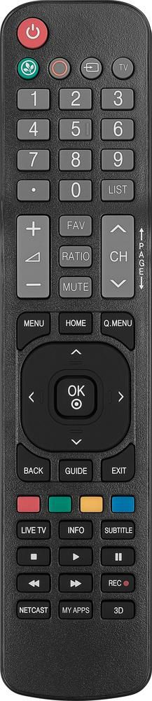 Insignia™ - Replacement Remote for LG TVs - Black